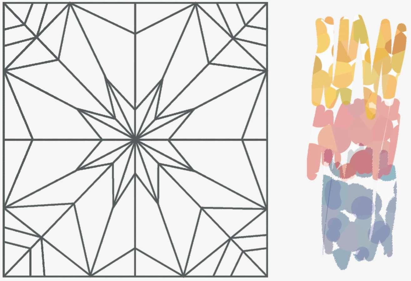 Орнамент из бумаги геометрический